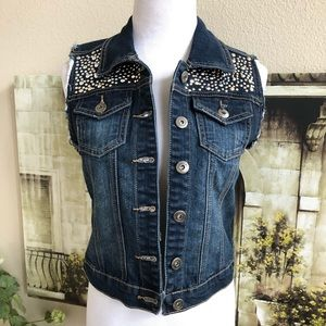 Bebe studded denim jacket